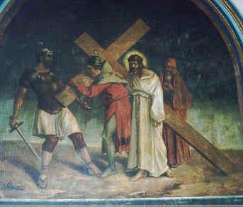 5 Simón el Cireneo Ayuda a Jesús a Llevar la Cruz