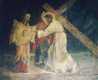 6 La Verónica Limpia el Rostro de Jesús