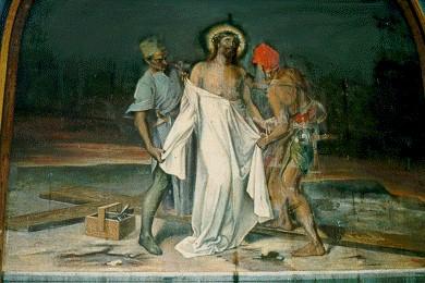 10 Jesús es despojado de sus vestiduras.