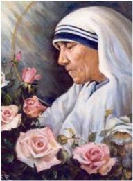 Resultado de imagen para Santa Teresa de Calcuta y el rosario