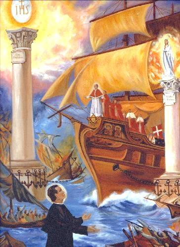 sueño de S. Juan Bosco: Pilares
