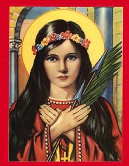 Virgen y Mártir