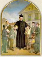 San Juan Bosco con niños